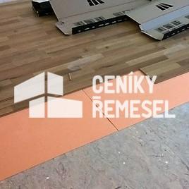 Pokládka laminátové plovoucí podlahy (se zámkem)