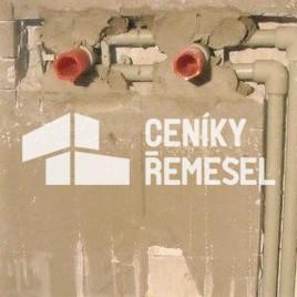Montáž nástěnky PPR pro baterii (ve zdi vč. sádrování)