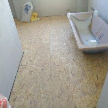 Kompletní rekonstrukce bytu Praha Nusle - osb podlaha