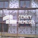 Zateplení fasády polystyrenem včetně točené omítky