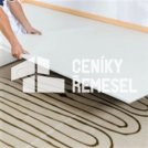 Podlaha rigiplan (jednotlivé desky následné lepené, podsyp do 80 mm)