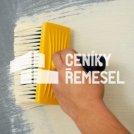 Malba stěny štětkou (1 vrstva - běžná interierová bílá barva)