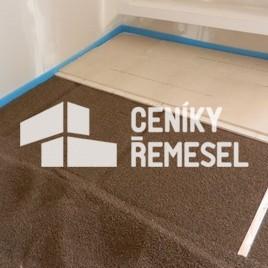 Podlaha rigidur (jednotlivé dílce slepené, podsyp do 80 mm)