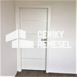 Montáž obložkových otevíravých jednokřídlých dveří včetně obložky
