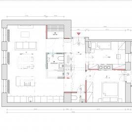 Návrh dispozice bytu do 90m2