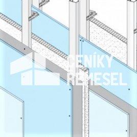 Příčka bezpečnostní (2x KCE, 2x záklop, oboustraně plech, bez izolace)