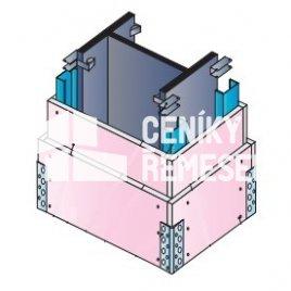 Kastlík čtyřstranný do 50cm (2x záklop, vč. al. rohů, bez izolace)