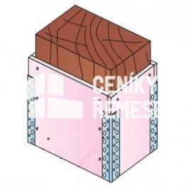 Obložení dřevěného trámu čtyřstraně bez kce (1x záklop, vč. al.rohů)