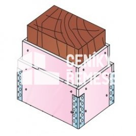 Obložení dřevěného trámu čtyřstraně bez kce (2x záklop, vč. al.rohů)
