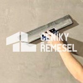 Natažení sádrové stěrky na stěnu (1 vrstva do 3mm)