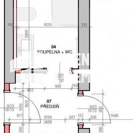 Návrh dispozice bytu do 30m2