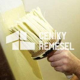 Malba stěny štětkou (1 vrstva - běžná interierová tónovaná barva)