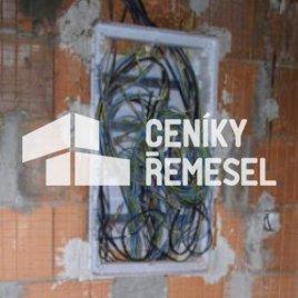 Osazení rozvaděče do zdi vč.sádrování (do vel.600x1000mm)