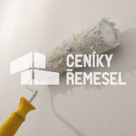 Malba stěny válečkem (1 vrstva - vinylová interierová bílá barva)
