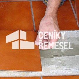 Pokládka keramické dlažby vč. spárování (200x200 mm)