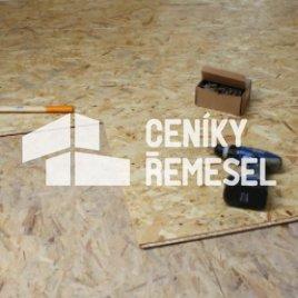 Pokládka osb deskek s prošroubováním (2x OSB deska)
