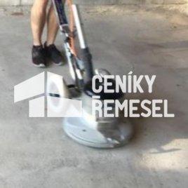 Jemné broušení betonového podkladu (sražení nerovností brusným kotoučem)