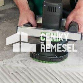 Broušení betonu (sražení nerovností diamantovým kotoučem)