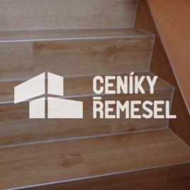 Lepení podlahy na schody (1 plocha)