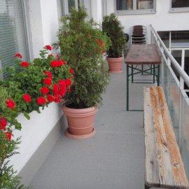 nastěhovaný balkón