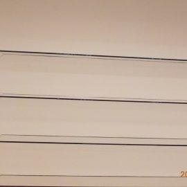 Montáž skleněných polic do SDK konstrukce