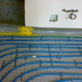 montáž podlahového vytápění