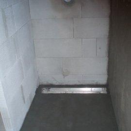 sprchová stěna z Ytongu