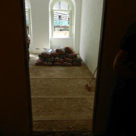 místnost před pokládkou podlahy
