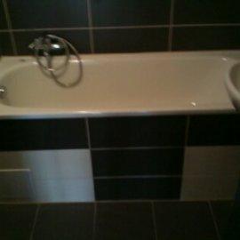 obklady a dlažby zrekonstruované koupelně