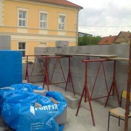 zdění obvodového zdiva