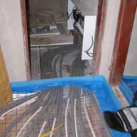 instalace podlahového vytápění