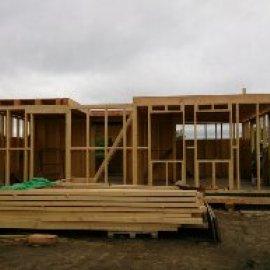 montáž dřevostavby