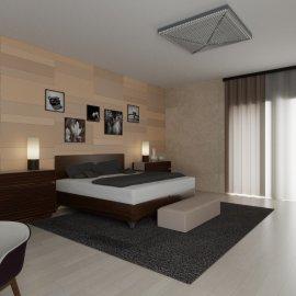 Vizualizace ložnice - pohled 1