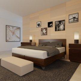 Vizualizace ložnice - pohled 3