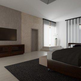 Vizualizace ložnice - pohled 4