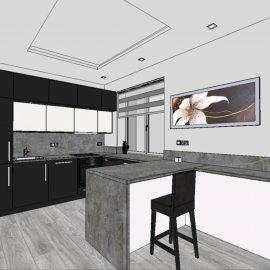 3D vizualizace - kuchyň