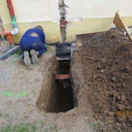 příprava plynové přípojky