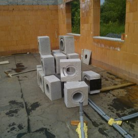 příprava na stavbu komínového systému