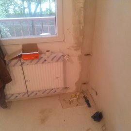 instalace radiátorů