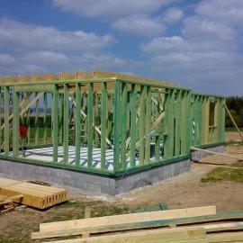 montáž dřevěných konstrukcí