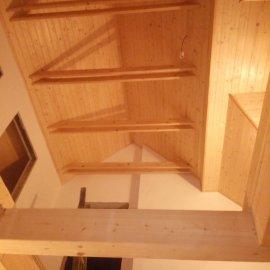 zateplení štítu a obložení dřevem