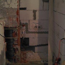 Praha 5 - Košíře -  Rekonstrukce koupelny a WC - rozvody