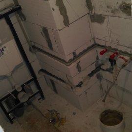 Praha 5 - Košíře -  Rekonstrukce koupelny a WC - geberit