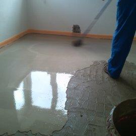 Řitka - RD - podlahy - vylití