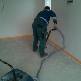 Řitka - RD - podlahy - vysátí