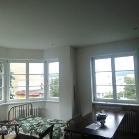 Rekonstrukce bytu na podkovce - obývák