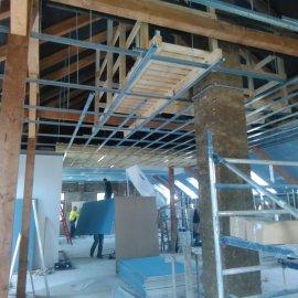 sádrokartonové příčky a podhledy - střecha