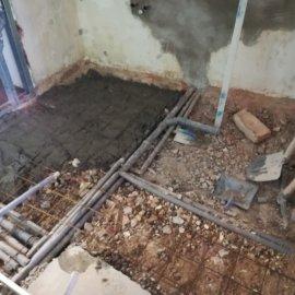 betonování podlahy s kari sítí