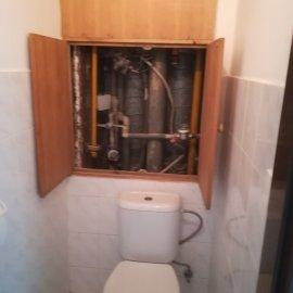 Rekonstrukce Mokrá - původní wc
