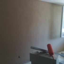 Rekonstrukce Mokrá - štukování stěn